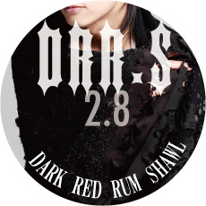0208 DRR.S【DARK RED RUM shawl】