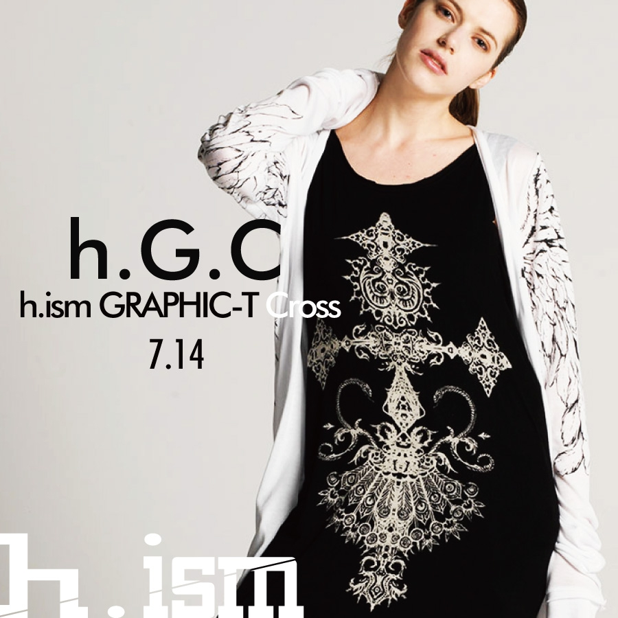 0714  h.G.C【h.ism GRAPHIC-T Cross】