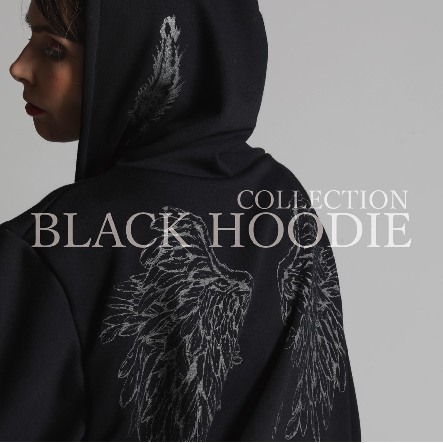 1011 BLACK HOODIE COLLECTION