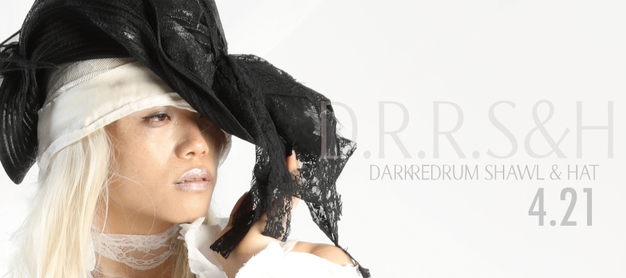 0421 D.R.R・S&H【DARK RED RUM Shawl&HAT】