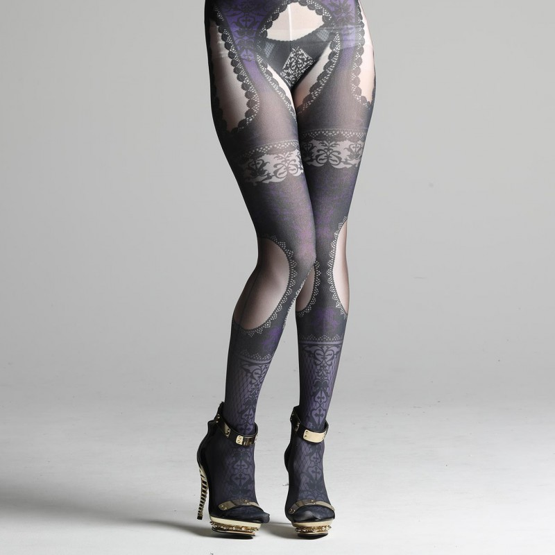 Lace Garter Tights