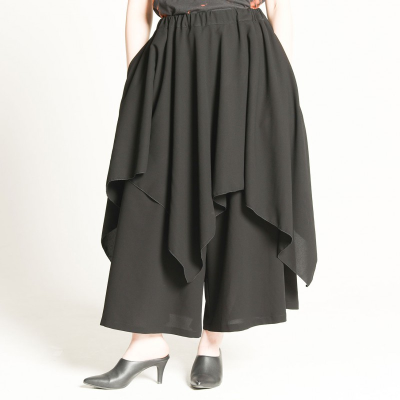 Flared skirt wide pants
