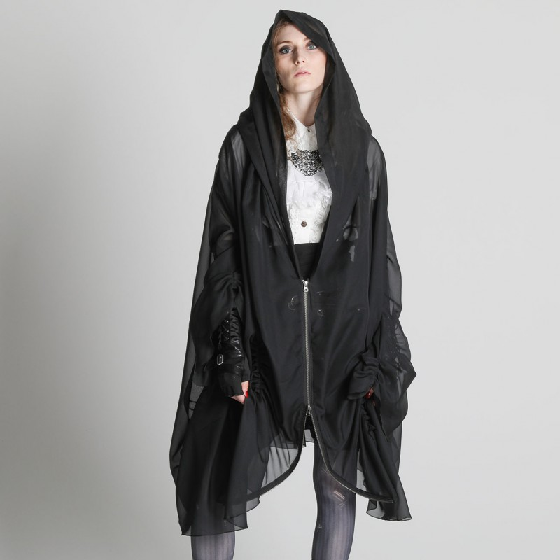 See-through poncho