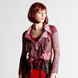 Smoky Red lace jacket