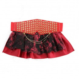 Red Stud Sash belt
