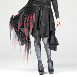 Blood Dahlia Lace Skirt