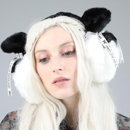 White Cat Ear Muff