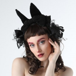 Black Rabbit Head Piece