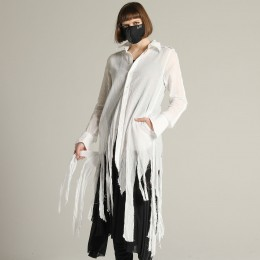 Damage gauze blouse