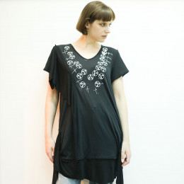 Anarchy Mark Drape V-neck TOPS