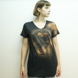 Skull Cross Bleach V-neck T-SH