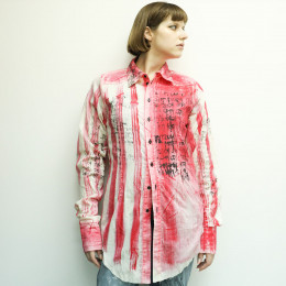 Hand painted Stripe gauze shirt