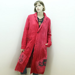 Red Double gauze jacket