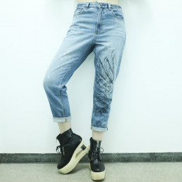 Angel wings ankle denim