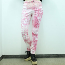 Hand painted Stretch skinny pants