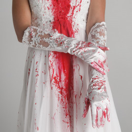 Bloody  Lace Wedding Gloves