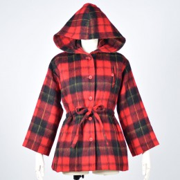 Red Check Coat