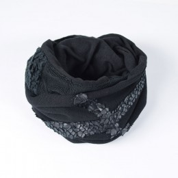 Black Velor Snood