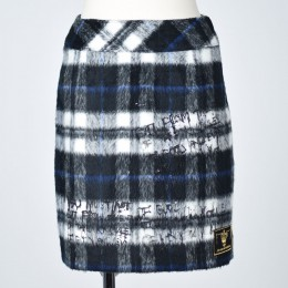 Message mohair check skirt