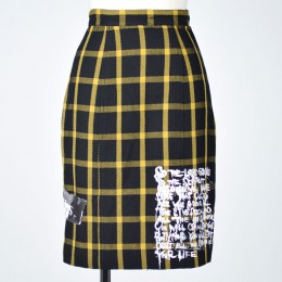 Check punk skirt