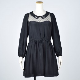 Pearl Lace Collar Sexy Dress