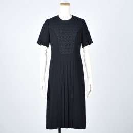 Center Pleated Lace Dress