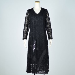 Spangles Lace long one-piece dress