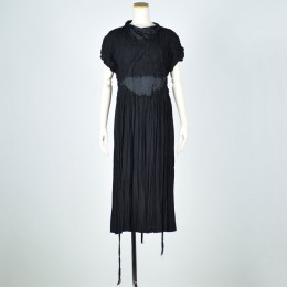 Pleated damage dress
