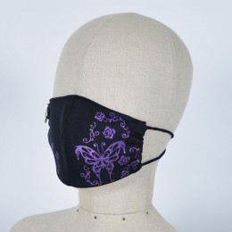Butterfly and Rose Cross Mask Wear