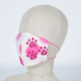 Footprint Pink Cat Mask Wear / M