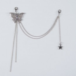 Butterfly and H star Long chain Maccessory