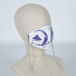 Mountain and Lily Crest Mask Wear / M