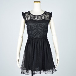 Tulle gather lace dress