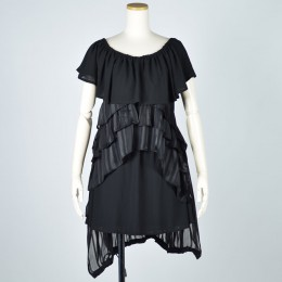 Off-shoulder gothic dress