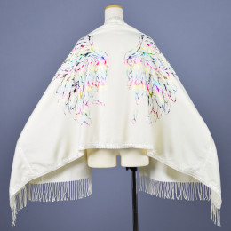 Angel wings Lace tape Rainbow stole