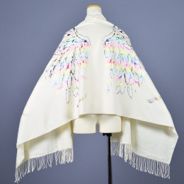 Angel wings crash Rainbow stole