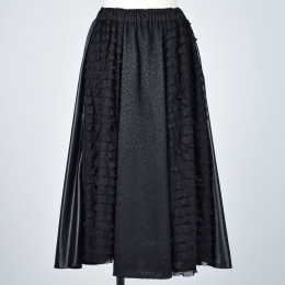Jacquard & frilled skirt