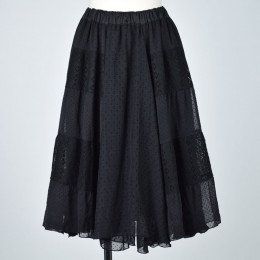 Different material short length skirt
