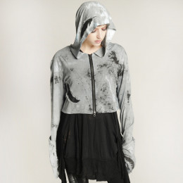 Angel's Feather short hoodie