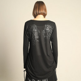 Angel Wing Side Gather Tops