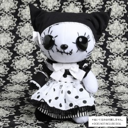 POLKA DOT WHITE DEVIL DRESS OUTFIT