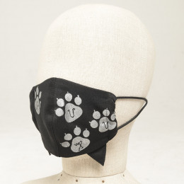 Cat footprint Kids Mask Wear / S