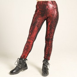 Shiny snake pattern Leggings pants