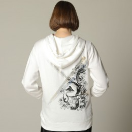 Mountain and Lily Crest Hoodie / M