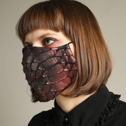 Red Dragon Leather Mask Wear / M