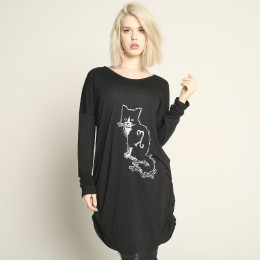 "Black cat ""Rin"" Dolman tops"