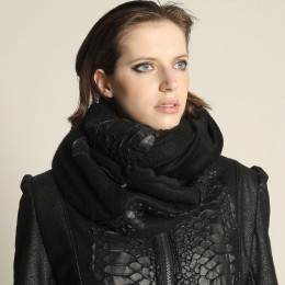 Black Dragon leather Snood