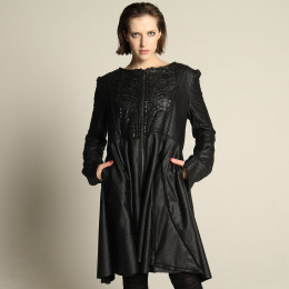 Dragon leather dress blouson