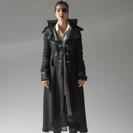 Silver Scale Fur Coat