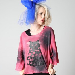 Dot Cat Dyed TOPS